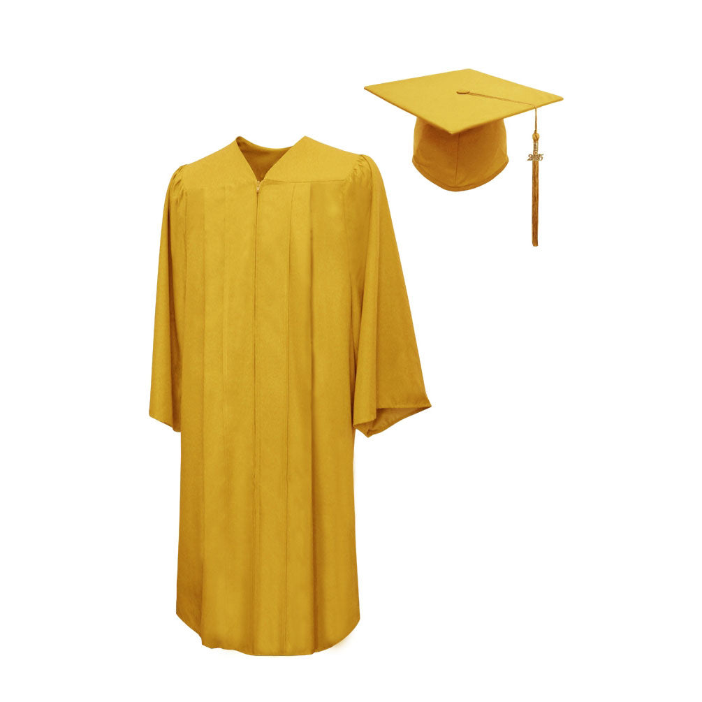 Matte Graduation Cap & Gown Package