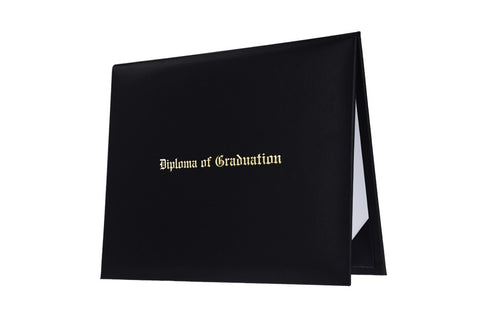 Black Imprinted High School Diploma Cover