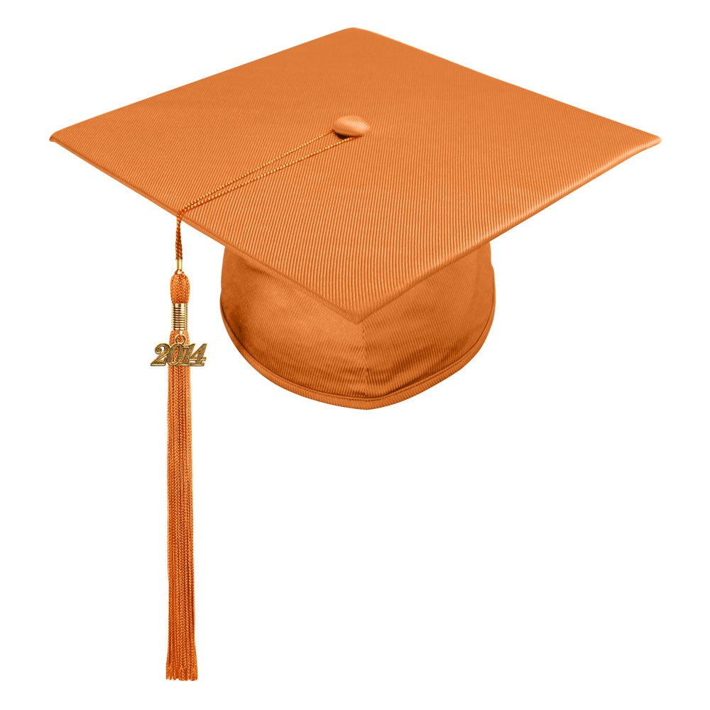 Shiny Orange High School Cap & Tassel