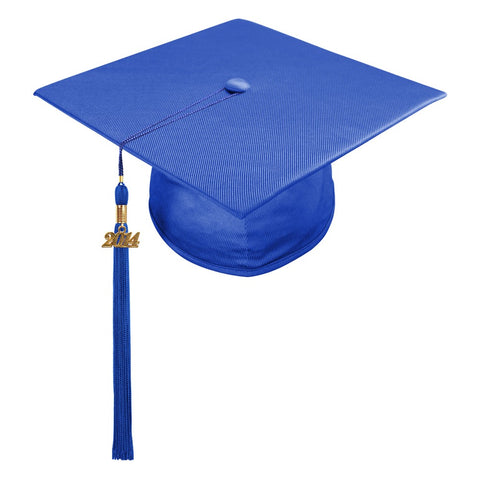Shiny Royal Blue High School Cap & Tassel