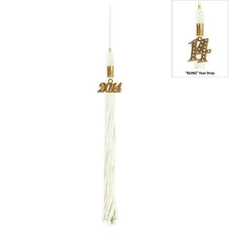 Matte White High School Cap & Tassel
