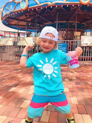 be kind sunshine tee - lagoon