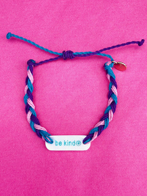 cotton candy braided bracelet