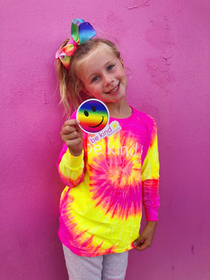 tie dye smiley face sticker