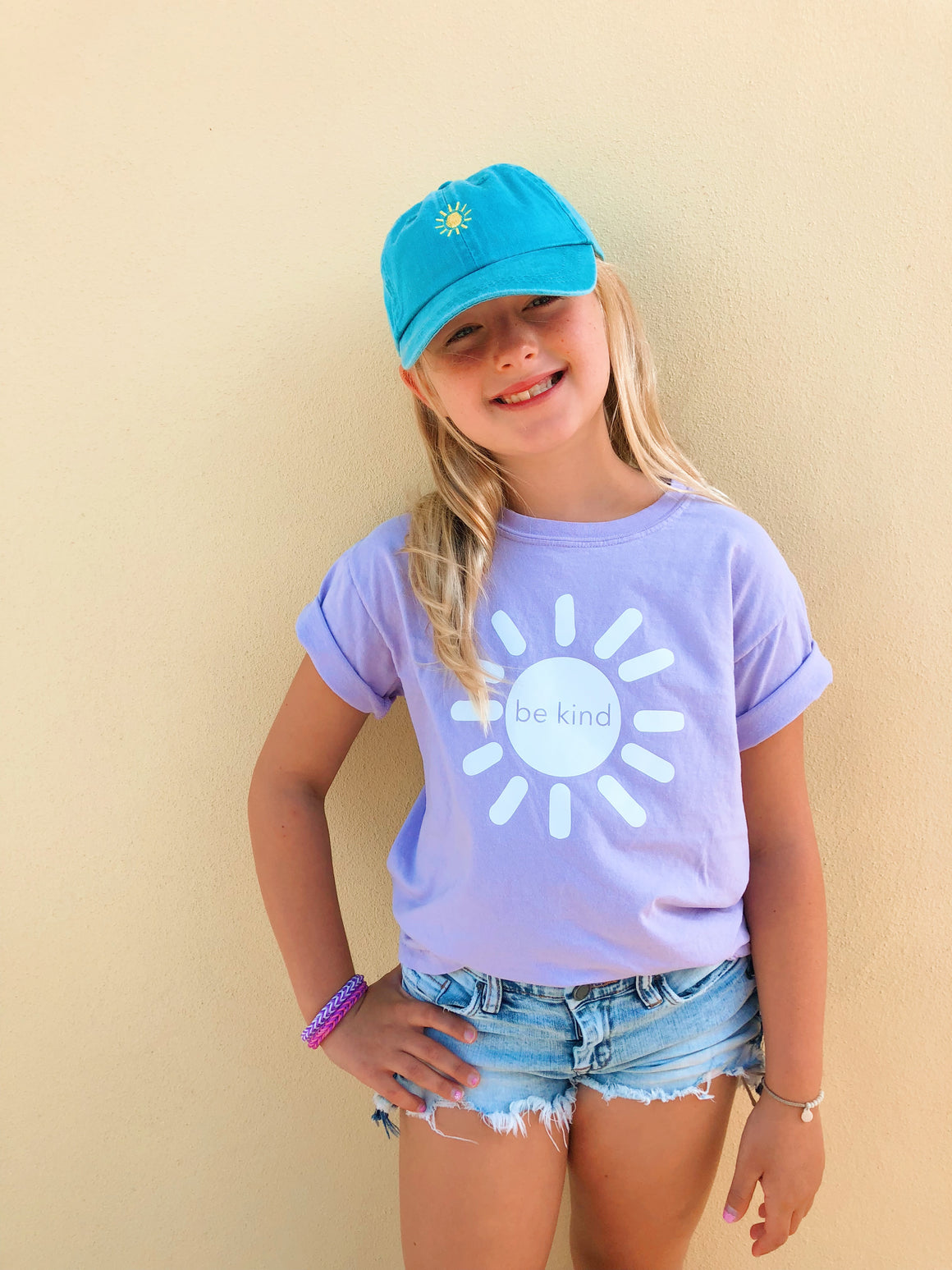 be kind sunshine tee - lilac