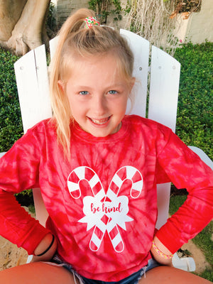 holiday edition ~ candy cane be kind long sleeve tee