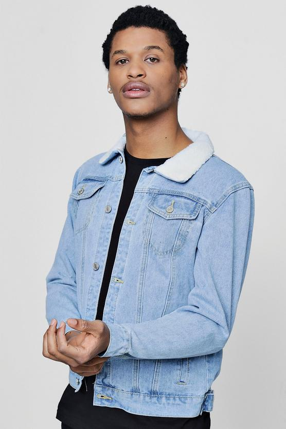 Collar Denim Jacket
