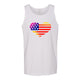 Heart American Flag Rainbow Men's Tank Top