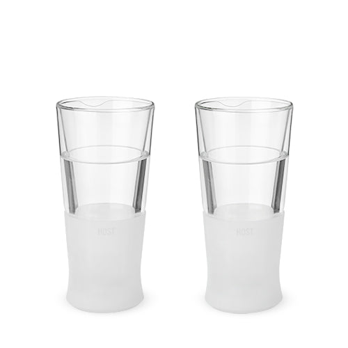 Glass FREEZE Beer Glass by HOST® - Set of 2