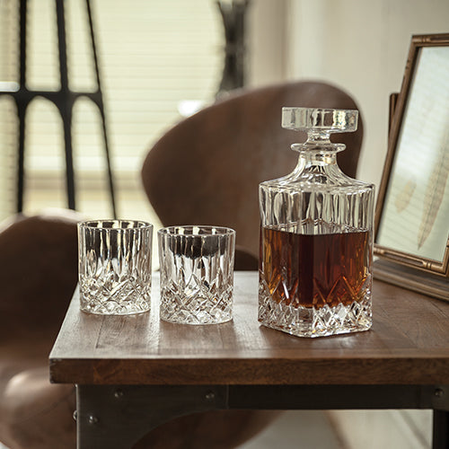 Admiral™ - Crystal Tumblers by Viski with matching decanter