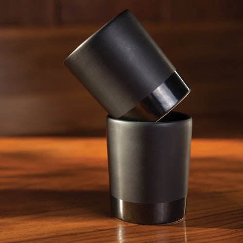 Warren™ Black Stoneware Tumblers by Viski