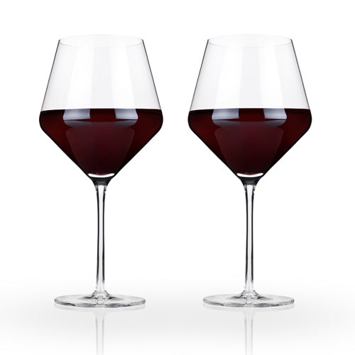 Raye Crystal Burgundy Glasses (Set of 2)by Viski