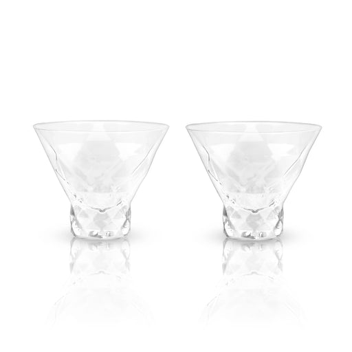 Raye Gem Crystal Martini Glasses by Viski - Set of 2