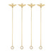 Garden Party: Brass Bee Stir Sticks