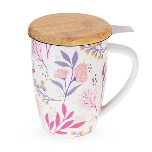 Bailey™ Botanical Bliss Ceramic Tea Mug & Infuser by Pinky Up