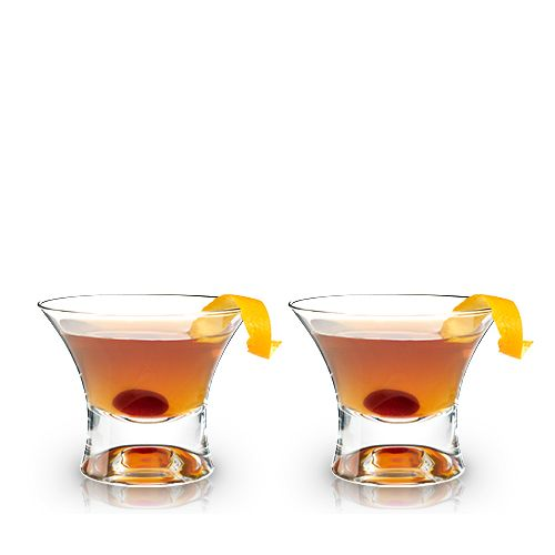 Crystal Manhattan Glasses by Viski®
