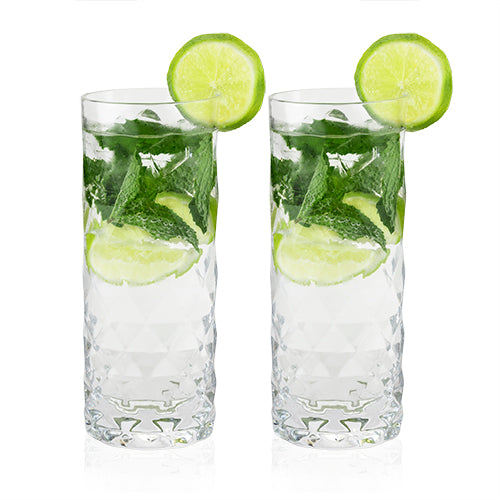Raye: Gem Crystal Highball Glasses by Viski
