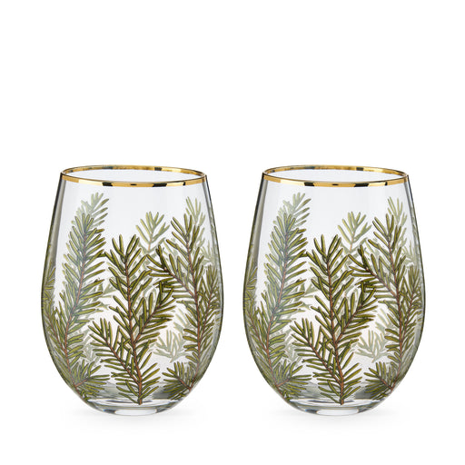 Stemless Wine Glass - Woodland Set of 2 by Twine®