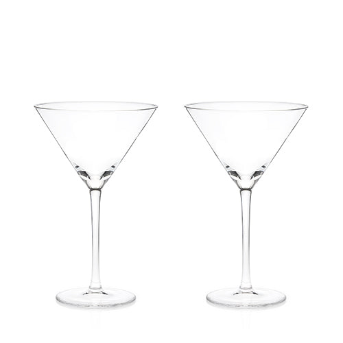 Stemmed Crystal Martini Glasses by Viski