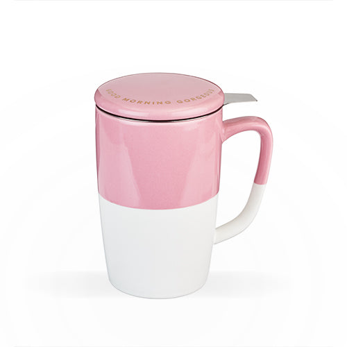 Delia Tea Mug & Infuser by Pinky Up - Pink