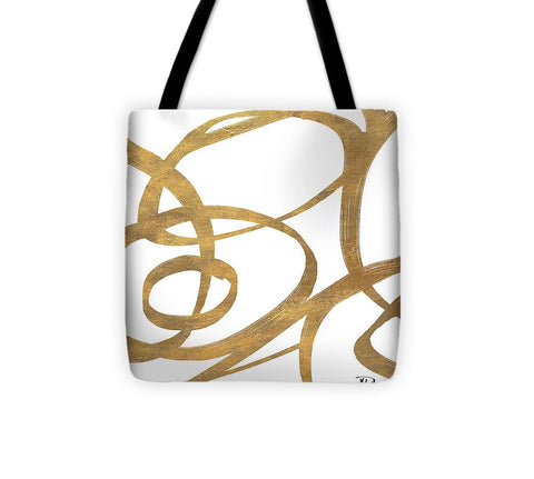 Golden Swirls Square I Tote Bag