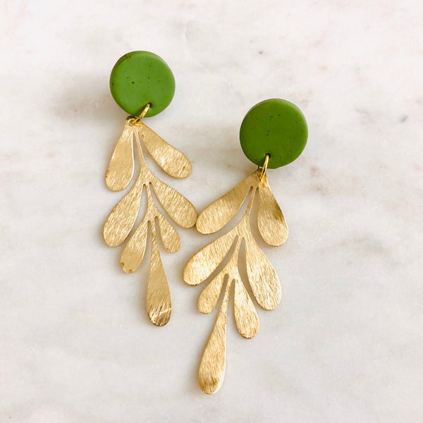 Leaf Green Clay + Brass