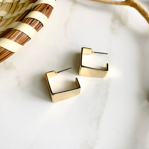 18K Gold Filled Geometric Earrings