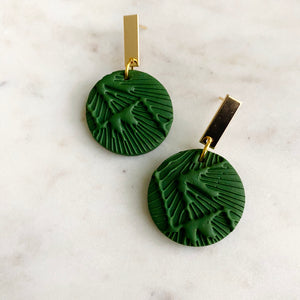 Green Textured + Brass