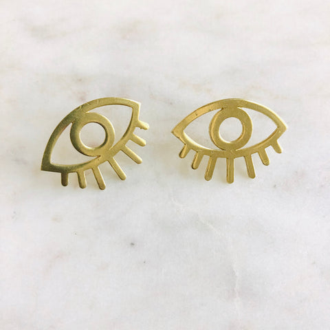Brass Eye studs
