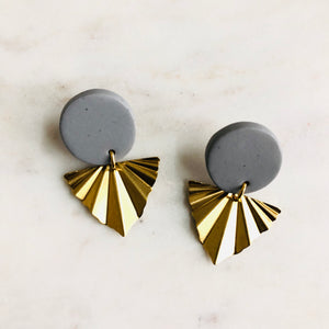 Pewter Gray Clay + Brass