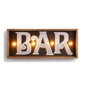 LIT BAR WALL ART - 19X8