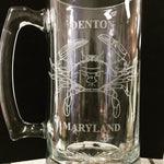 Oversized Denton Glass Stein