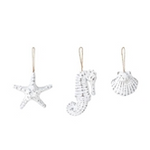 White washed coastal ornaments