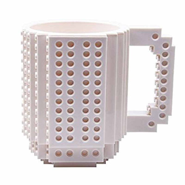 Creative DIY Brick Building Blocks Coffee Mug with a Pack of Bricks