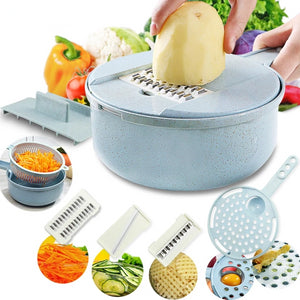 Multi-Functional Mandoline Slicer and Vegetable Slicer Grater with Strainer