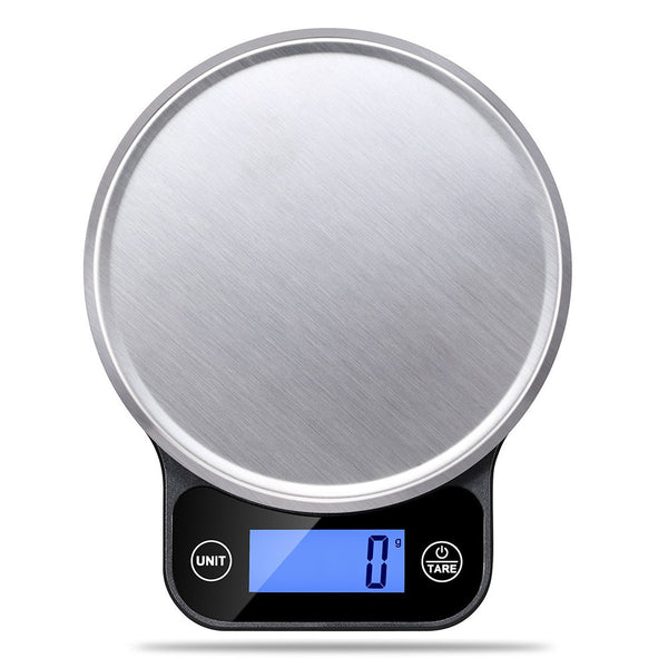 Digital Kitchen Food Scale with Blue Backlit LCD