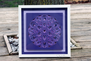 Assembling Clean Cut Creative's Layered Mandala CCC224