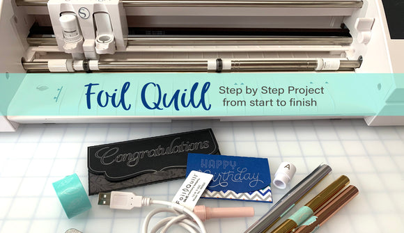 Paper Crafting with the Foil Quill by We R Memory Keepers & my Cameo