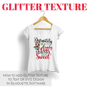How to add Glitter Texture to Text and Designs in Silhouette Software