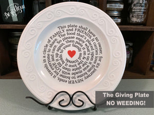 "How to make ""The Giving Plate"" NO  weeding!"
