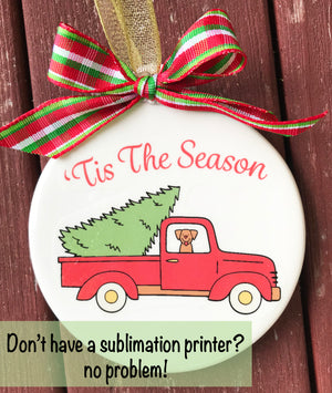How to print on ceramic ornaments without a sublimation printer
