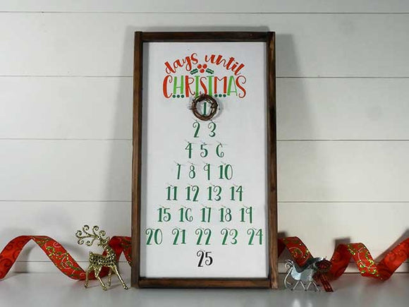 Days to Christmas Countdown Calendar Tutorial