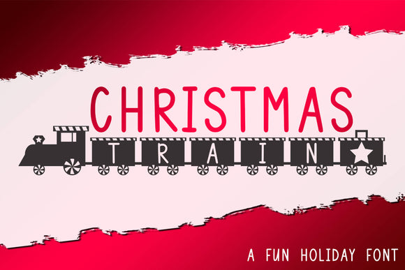 Christmas Train Font TTF OTF