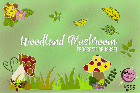 Woodland Mushroom Procreate Brushset