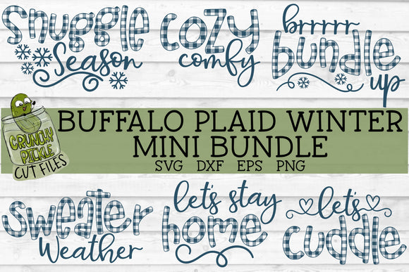 Buffalo Plaid Winter SVG Mini Bundle