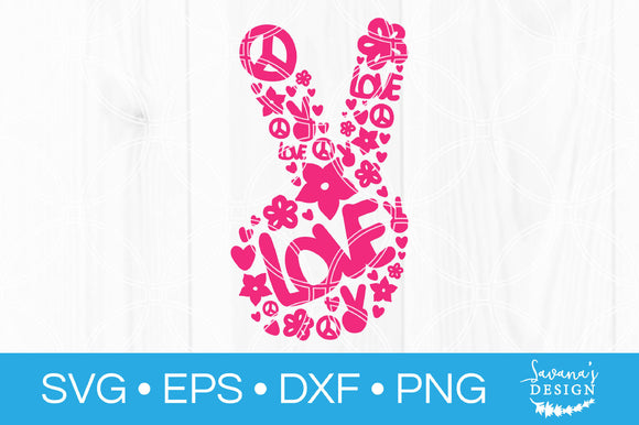 Peace Fingers SVG