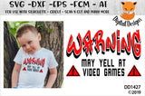 Warning Video Gamer SVG
