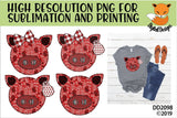 Canadian Patchwork Pig Sublimation