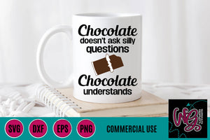 Chocolate Understands Kitchen Humor Cut File
