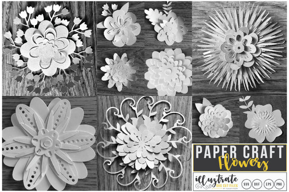 3D Flower Cut File Bundle SVG Cut Files